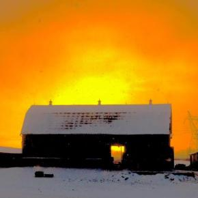 Queensville Winter Barn